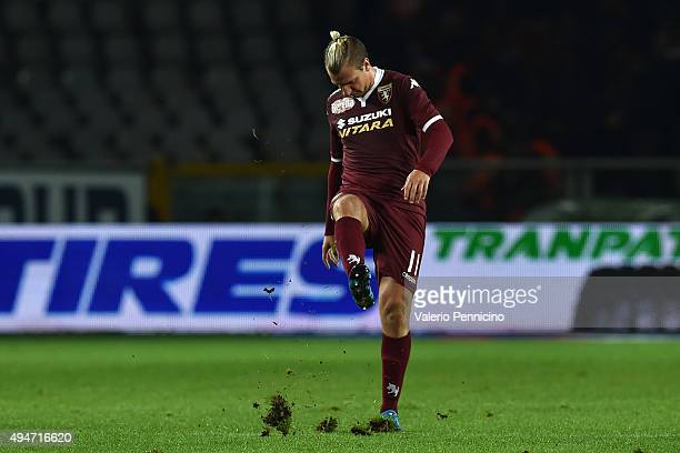 Maxi Lopez of Torino FC shows his dejection after the draw of the Genoa CFC during the Serie A match between Torino FC and Genoa CFC at Stadio...