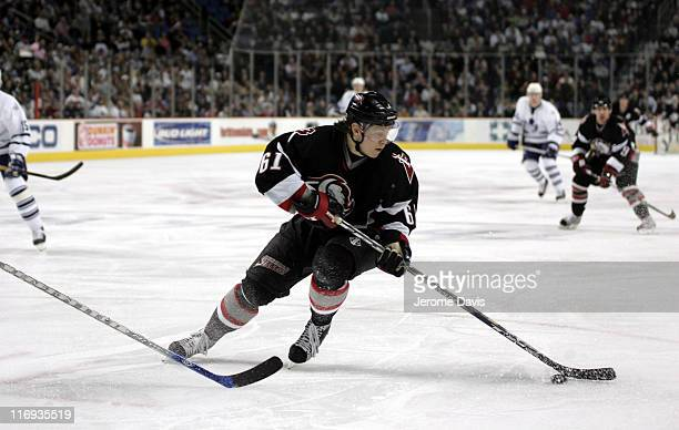 Maxim Afinogenov of the Buffalo Sabres during a game against the Toronto Maple Leafs at the HSBC Arena in Buffalo New York on March 16 2006 Buffalo...