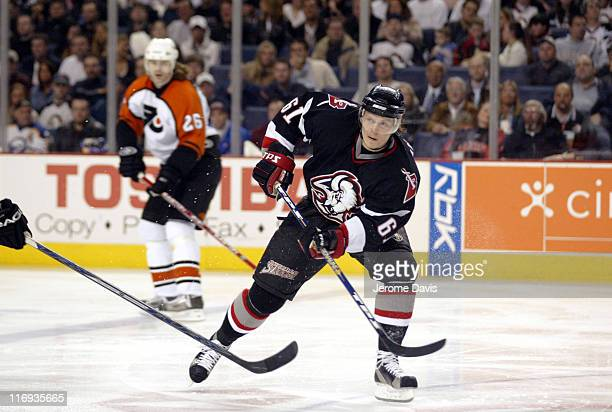 Maxim Afinogenov of the Buffalo Sabres during game two playoffs action versus the Philadelphia Flyers at the HSBC Arena in Buffalo NY April 24 2006...