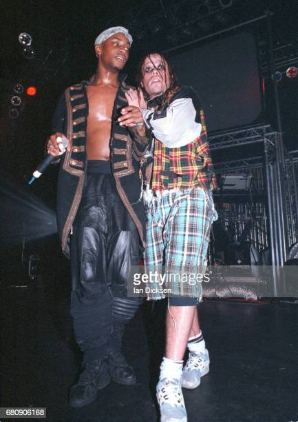 Maxim and Keith Flint of The Prodigy performing on stage United Kingdom 1994