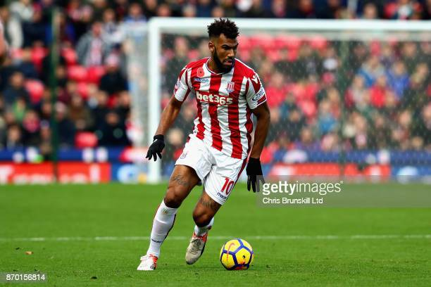 Maxim ChoupoMoting of Stoke City in action during the Premier League match between Stoke City and Leicester City at Bet365 Stadium on November 4 2017...