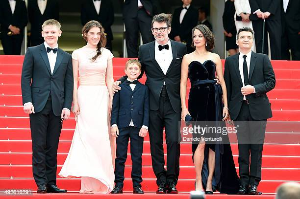 Maxim Emelianov Zukhra Duishvili Abdul Khlim Mamamtsuiev Michel Hazanavicius Berenice Bejo and Thomas Langmann attend 'The Search' Premiere at the...