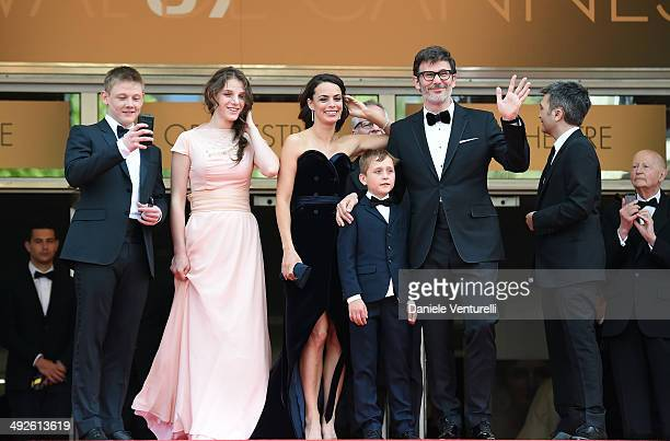 Maxim Emelianov Zukhra Duishvili Berenice Bejo Abdul Khlim Mamamtsuiev Michel Hazanavicius and Thomas Langmann attend 'The Search' Premiere at the...