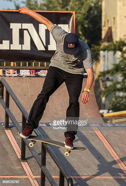 Maxim Habanec of Czech and Red Bull rider in action during the final of the 17th of OSG Offline Sport Games at Városliget on Sept 10 2016 in Budapest...