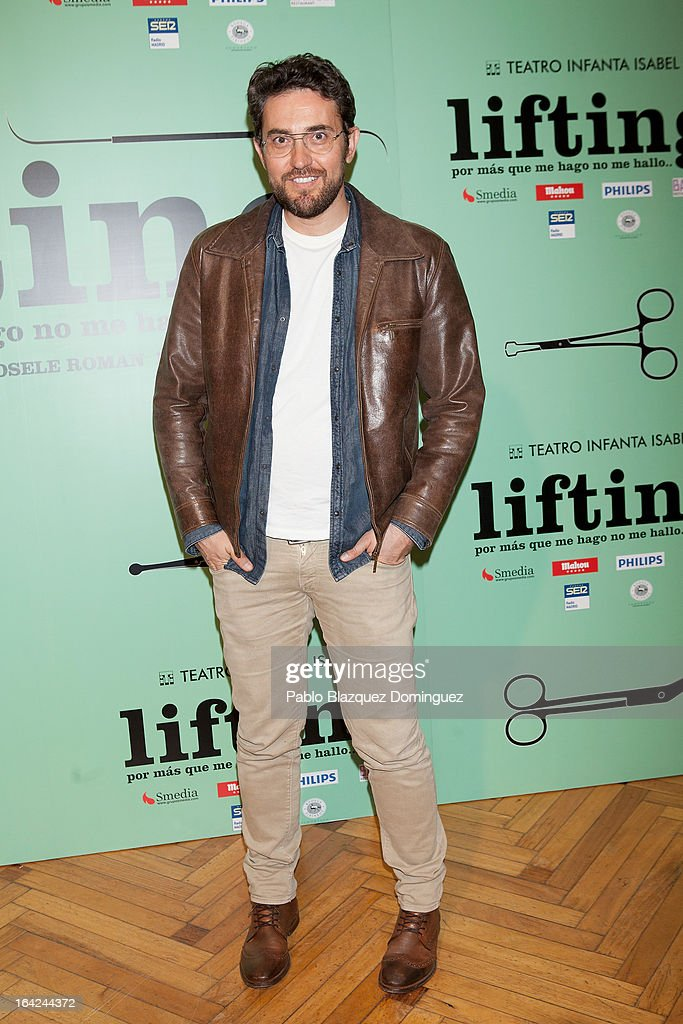 Maxim Huerta attends the 'Lifting' premiere at Infanta Isabel Theatre on March 21, 2013 in Madrid, Spain.