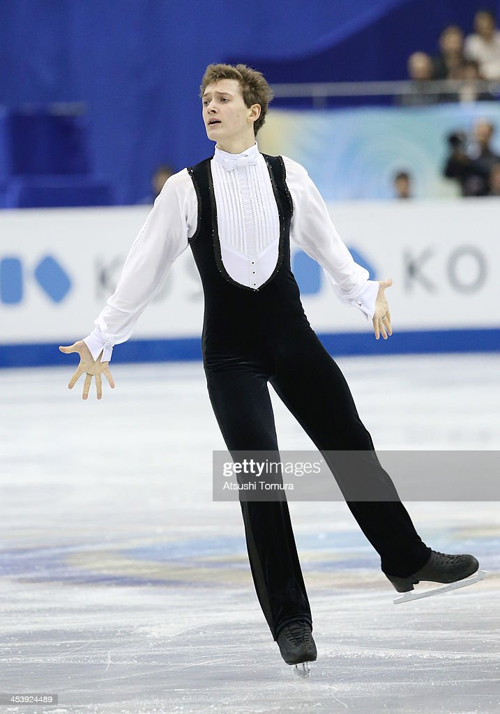<a gi-track='captionPersonalityLinkClicked' href=/galleries/search?phrase=Maxim+Kovtun&family=editorial&specificpeople=10051766 ng-click='$event.stopPropagation()'>Maxim Kovtun</a> of Japan compete in the men's free program during day two of the ISU Grand Prix of Figure Skating Final 2013/2014 at Marine Messe Fukuoka on December 6, 2013 in Fukuoka, Japan.