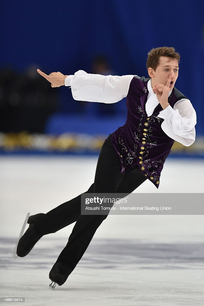 <a gi-track='captionPersonalityLinkClicked' href=/galleries/search?phrase=Maxim+Kovtun&family=editorial&specificpeople=10051766 ng-click='$event.stopPropagation()'>Maxim Kovtun</a> of Russia cometes in the men's free skating during the day two of the NHK Trophy ISU Grand Prix of Figure Skating 2015 at the Big Hat on November 28, 2015 in Nagano, Japan.