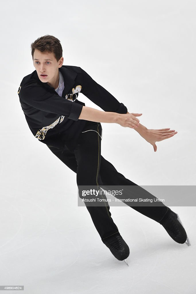 <a gi-track='captionPersonalityLinkClicked' href=/galleries/search?phrase=Maxim+Kovtun&family=editorial&specificpeople=10051766 ng-click='$event.stopPropagation()'>Maxim Kovtun</a> of Russia cometes in the men's short program during the day one of the NHK Trophy ISU Grand Prix of Figure Skating 2015 at the Big Hat on November 27, 2015 in Nagano, Japan.