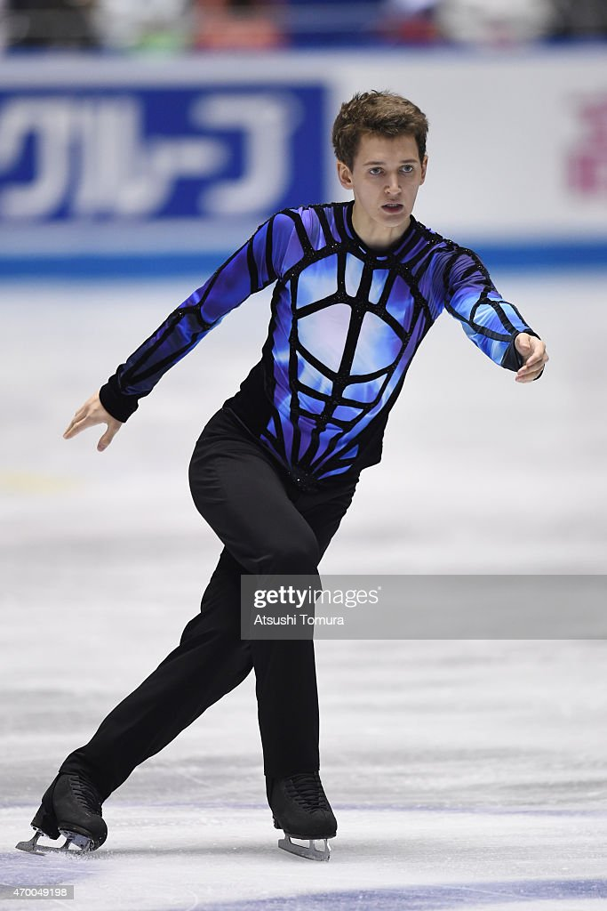 <a gi-track='captionPersonalityLinkClicked' href=/galleries/search?phrase=Maxim+Kovtun&family=editorial&specificpeople=10051766 ng-click='$event.stopPropagation()'>Maxim Kovtun</a> of Russia competes in the men's free skating during the day two of the ISU World Team Trophy at Yoyogi National Gymnasium on April 17, 2015 in Tokyo, Japan.