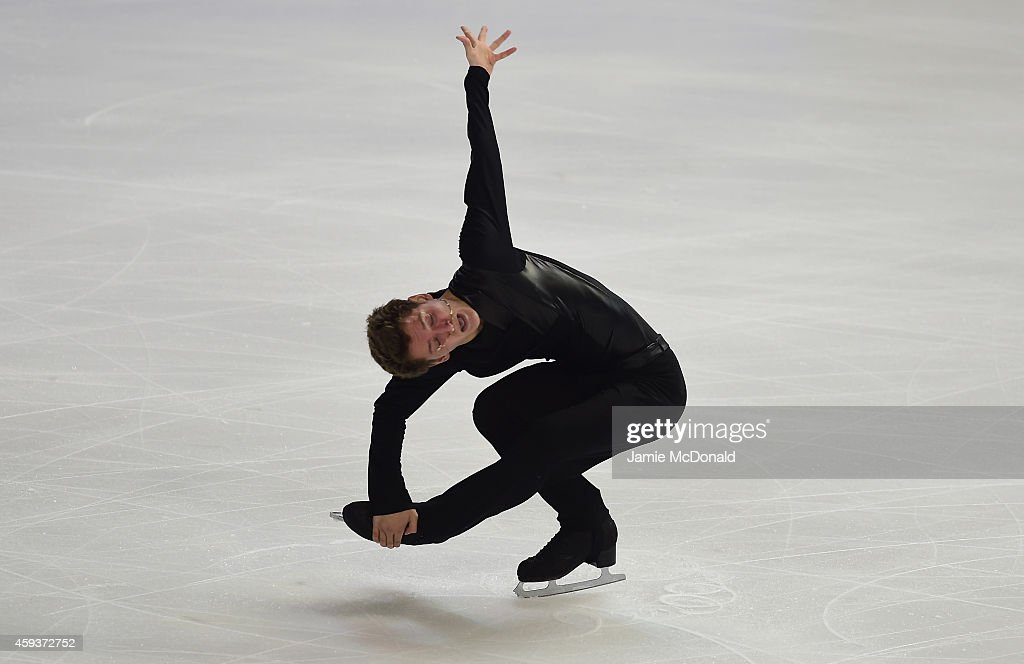 <a gi-track='captionPersonalityLinkClicked' href=/galleries/search?phrase=Maxim+Kovtun&family=editorial&specificpeople=10051766 ng-click='$event.stopPropagation()'>Maxim Kovtun</a> of Russia performs during the Mens Short program during day one of Trophee Eric Bompard ISU Grand Prix of Figure Skating at the Meriadeck Ice Rink on November 21, 2014 in Bordeaux, France.