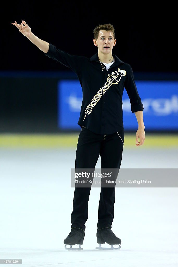 <a gi-track='captionPersonalityLinkClicked' href=/galleries/search?phrase=Maxim+Kovtun&family=editorial&specificpeople=10051766 ng-click='$event.stopPropagation()'>Maxim Kovtun</a> of Russia skates during men short program of the ISU Grand Prix at Meriadeck Ice Rink on November 13, 2015 in Bordeaux, France.