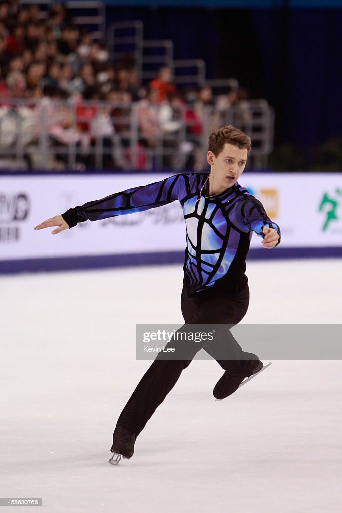 <a gi-track='captionPersonalityLinkClicked' href=/galleries/search?phrase=Maxim+Kovtun&family=editorial&specificpeople=10051766 ng-click='$event.stopPropagation()'>Maxim Kovtun</a> of Russia skates in Men Free Skating during the Lexus Cup of China 2014 on November 8, 2014 in Shanghai, China.