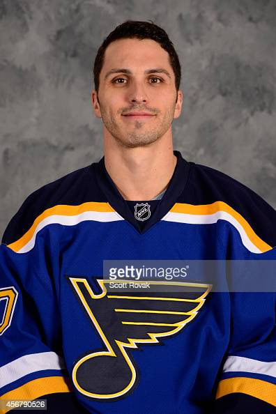 Maxim Lapierre of the St Louis Blues poses for his official headshot for the 20142015 season on September 18 2014 in St Louis Missouri