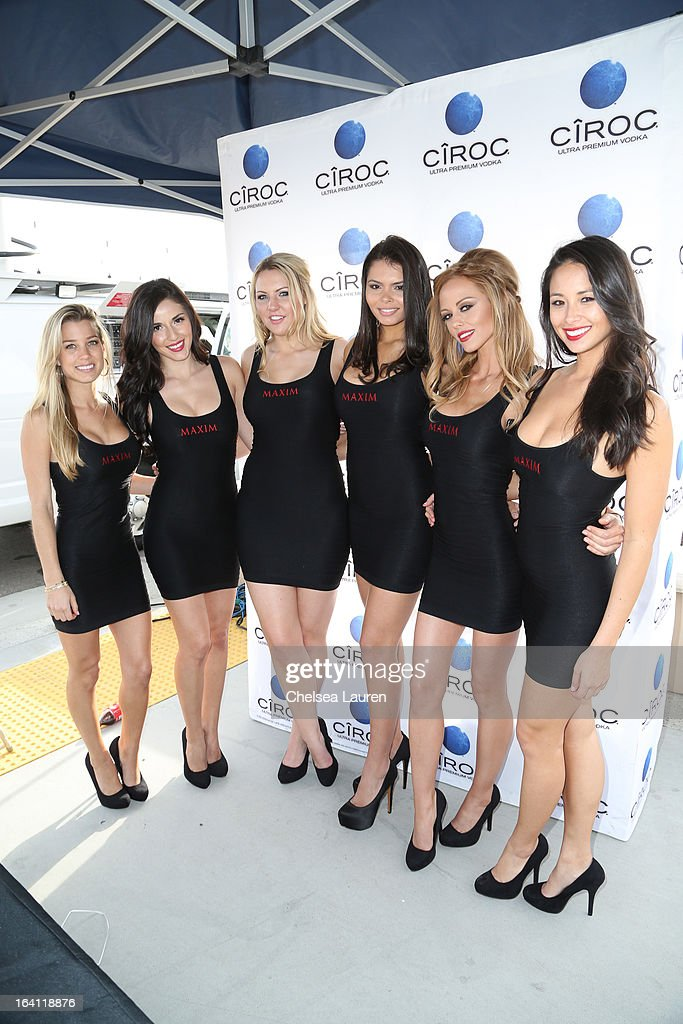 Maxim models pose at Ciroc and Maxim celebration of the National Day of Honor at Miramar MCX Military Base on March 19, 2013 in San Diego, California.