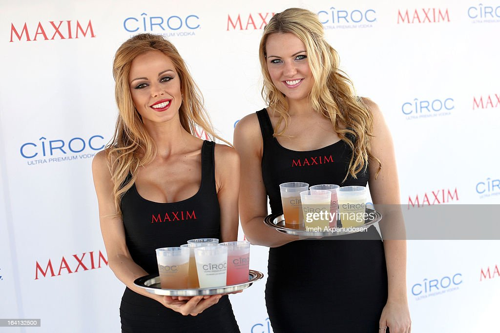 Maxim models pose at the Ciroc and Maxim celebration of the National Day of Honor at Marine Corps Air Station on March 19, 2013 in San Diego, California.