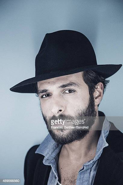 Maxim Nucci aka Yodelice poses for a portrait session during the Band Aid 30 'Noel est la' single recording at Studio Grande Armee on November 23...