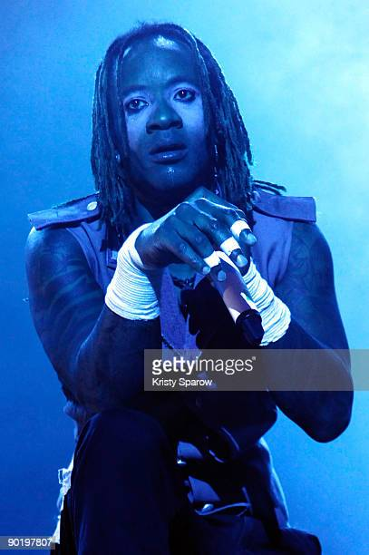 Maxim of The Prodigy performing on stage during the Rock en Seine music festival on August 30 2009 in Paris France