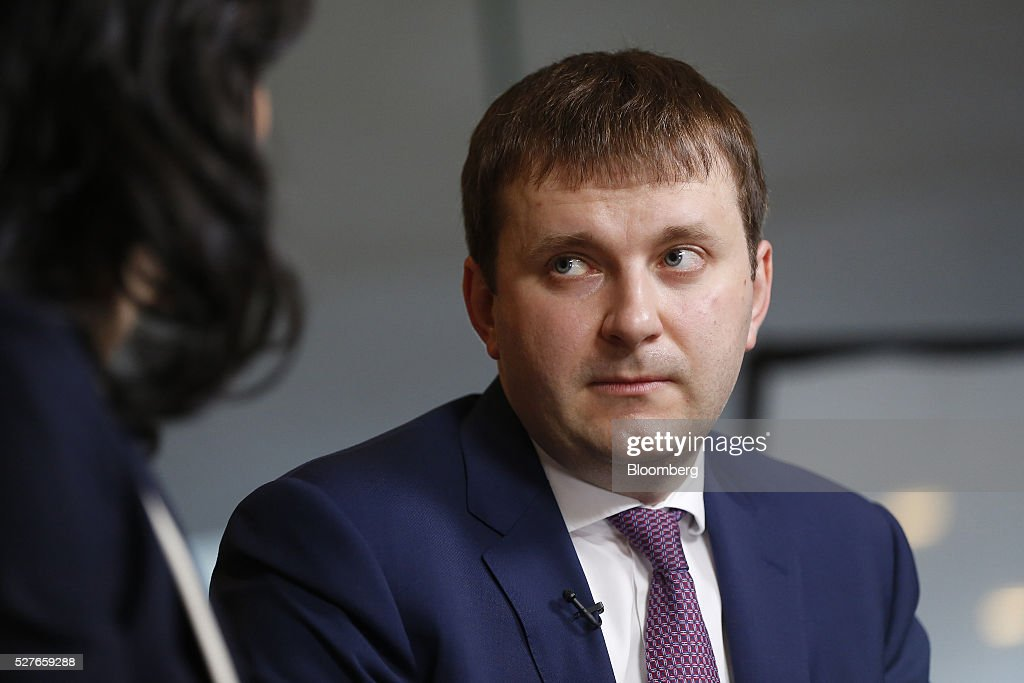 Maxim Oreshkin, Russia's deputy finance minister, listens during a Bloomberg Television interview at the annual Milken Institute Global Conference in Beverly Hills, California, U.S., on Tuesday, May 3, 2016. The conference gathers attendees to explore solutions to today's most pressing challenges in financial markets, industry sectors, health, government and education. Photographer: Patrick T. Fallon/Bloomberg via Getty Images