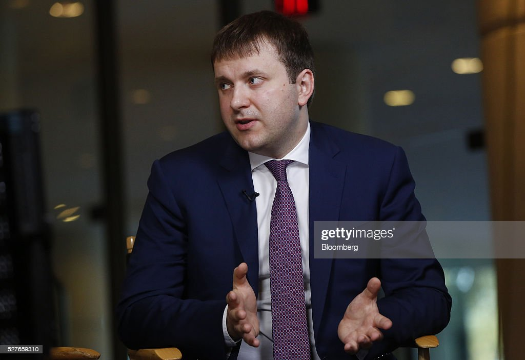 Maxim Oreshkin, Russia's deputy finance minister, speaks during a Bloomberg Television interview at the annual Milken Institute Global Conference in Beverly Hills, California, U.S., on Tuesday, May 3, 2016. The conference gathers attendees to explore solutions to today's most pressing challenges in financial markets, industry sectors, health, government and education. Photographer: Patrick T. Fallon/Bloomberg via Getty Images