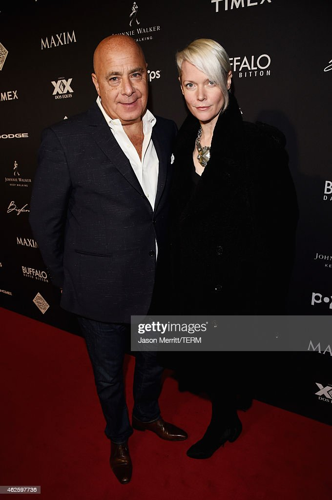 Maxim Publisher Kevin Martinez and editor in chief of Maxim Kate Lanphear attend the Maxim Party with Johnnie Walker Timex Dodge Hugo Boss Dos Equis...