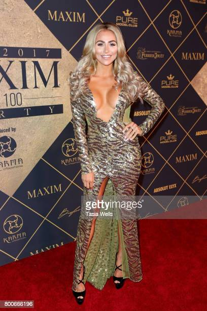 Maxim South Africa cover model Khloe Terae attends the 2017 MAXIM Hot 100 Party at Hollywood Palladium on June 24 2017 in Los Angeles California