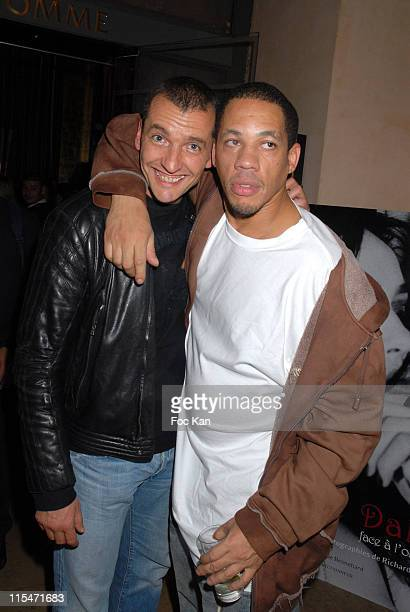 Maxime and Joey Starr during ''Beatrice Dalle Face a l'Objectif'' book and ''Champions'' book Launch at Cafe De L'Homme Musee de L'Homme in Paris...