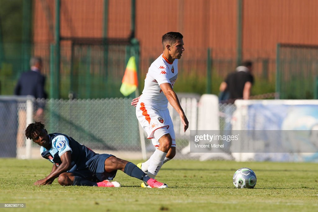 Maxime barthelme of lorient during the friendly match for Lorient match
