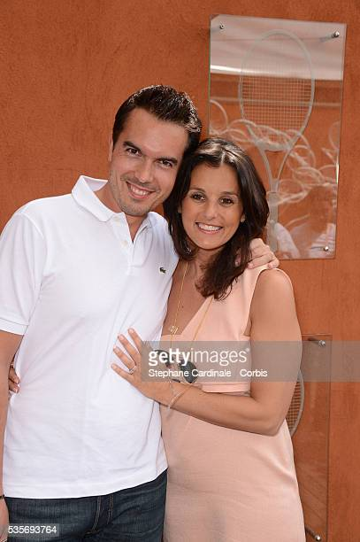 Maxime Chattam and Faustine Bollaert at Roland Garros Village
