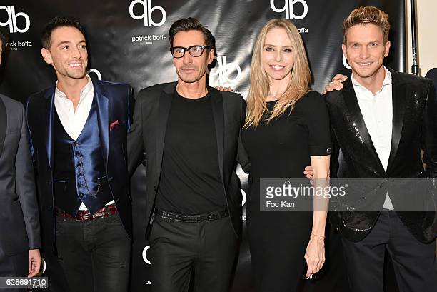 Maxime Dereymez Patrick Boffa Tonya Kinzinger and Pierre Barbe attend Patrick Boffa 2017 Collection Fashion Show at Plaza Athenee on December 8 2016...