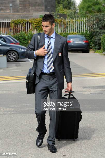 Maxime GONALONS Depart pour le Match de la Champions League Lyon / Tel Aviv