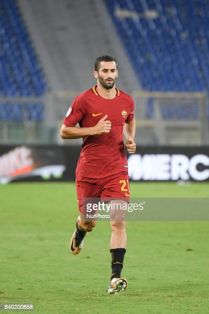 Maxime Gonalons of AS Roma during the Italian Serie A football match between AS Roma and FC Inter at the Olympic Stadium in Rome on august 26 2017