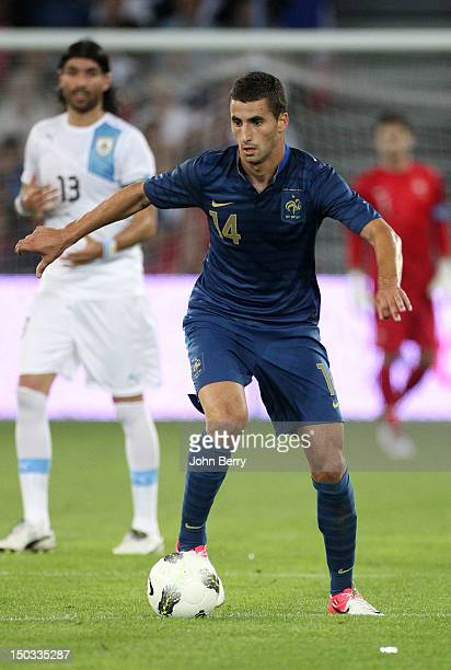 Maxime Gonalons of France in action during the international friendly match between France and Uruguay at the Stade Oceane on August 15 2012 in Le...