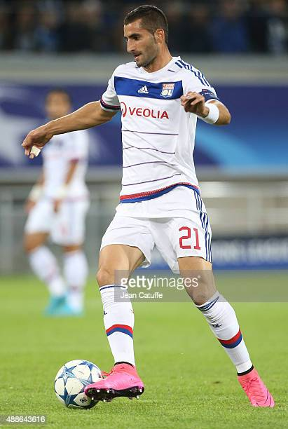 Maxime Gonalons of Lyon in action during the UEFA Champions League match between KAA Ghent and Olympique Lyonnais at Ghelamco Arena on September 16...