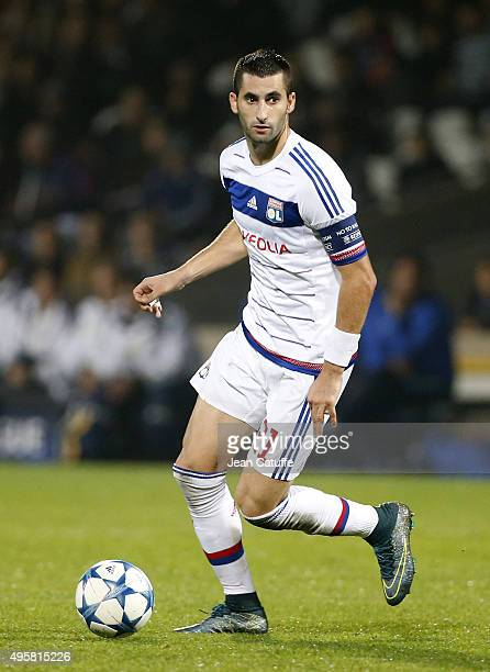 Maxime Gonalons of Lyon in action during the UEFA Champions league match between Olympique Lyonnais and FC Zenit St Petersburg at Stade de Gerland on...