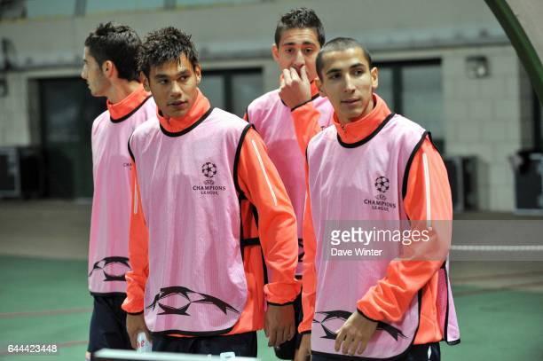 Maxime Gonalons / Timothee KOLODZIEJCZAK / Ishak BELFODIL / Yanis TAFER Debrecen / Lyon Champions League 2009/2010 Stade Ferenc Puskas Nepstadion...