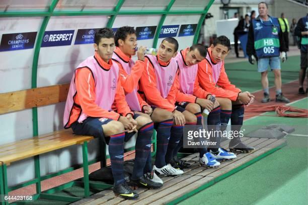 Maxime Gonalons / Timothee KOLODZIEJCZAK / Yanis TAFER / Nicolas SEGUIN / Ishak BELFODIL Debrecen / Lyon Champions League 2009/2010 Stade Ferenc...