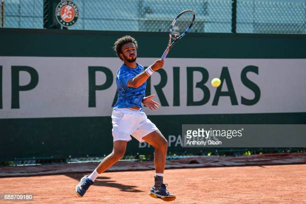 Maxime Hamou of France during a qualifying match of the French Open at Roland Garros on May 26 2017 in Paris France