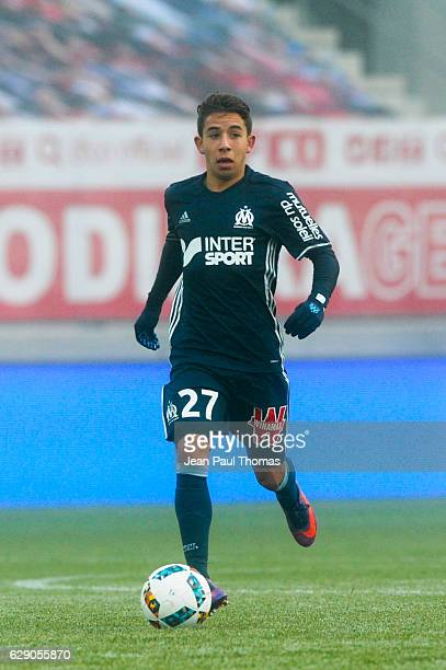 Maxime LOPEZ of Marseille during the French Ligue 1 between Dijon and Marseille at Stade Gaston Gerard on December 10 2016 in Dijon France