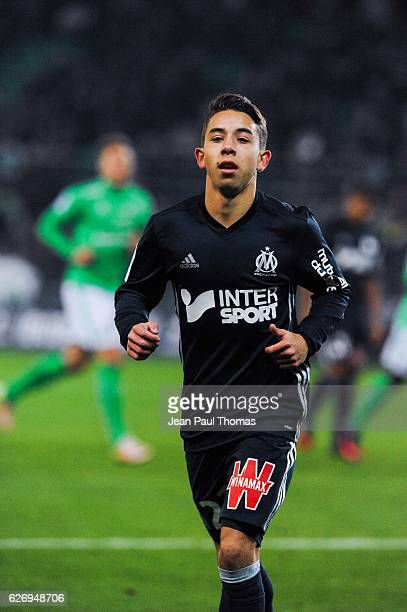 Maxime LOPEZ of Marseille during the Ligue 1 match between AS SaintEtienne and Olympique de Marseille at Stade GeoffroyGuichard on November 30 2016...