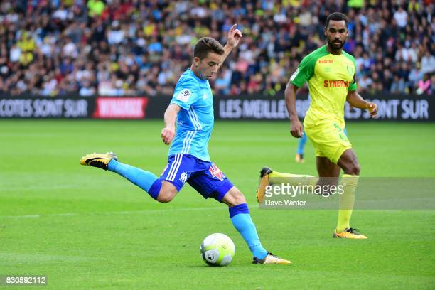 Maxime Lopez of Marseille during the Ligue 1 match between FC Nantes and Olympique Marseille at Stade de la Beaujoire on August 12 2017 in Nantes