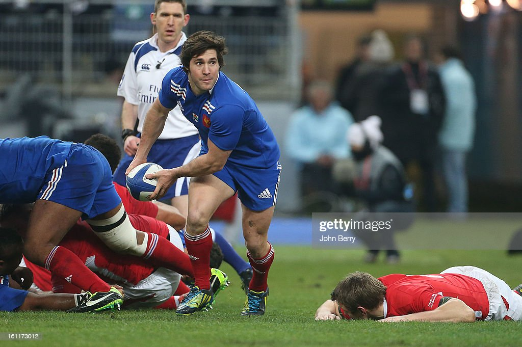 Maxime Machenaud of France in action during the 6 Nations match between France and Wales at the Stade de France on February 9,, 2013 in Paris, France.