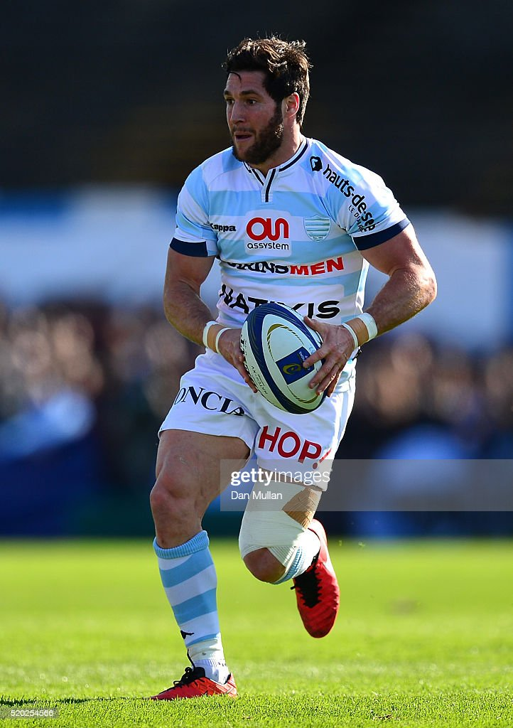 <a gi-track='captionPersonalityLinkClicked' href=/galleries/search?phrase=Maxime+Machenaud&family=editorial&specificpeople=7149115 ng-click='$event.stopPropagation()'>Maxime Machenaud</a> of Racing 92 makes a break during the European Rugby Champions Cup Quarter Final between Racing 92 and RC Toulon at Stade Yves Du Manoir on April 10, 2016 in Paris, France.