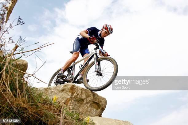 Maxime Marotte Competition Test de VTT a Hadleigh Farm Lieu de Competition des prochains Jeux Olympiques 2012 a Londres Hadleigh Country Park