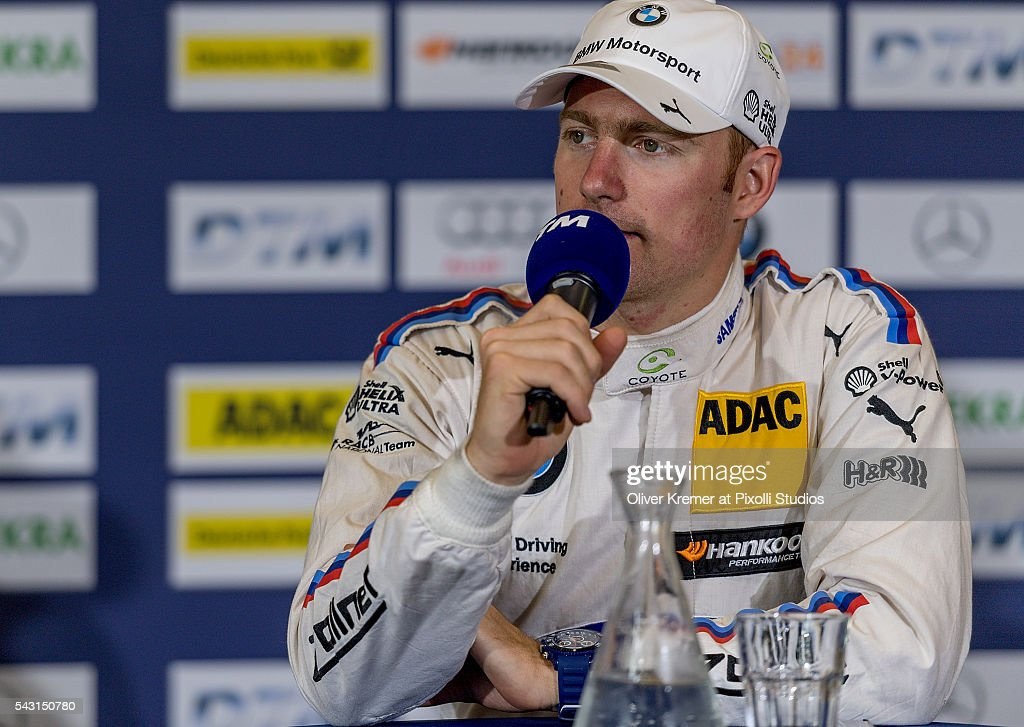 Maxime Martin (BEL) of BWM Team RBM during the press conference after his third place at the German Touring Car Championship race at the Norisring during Day 3 of the 74. International ADAC Norisring Speedweekend on June 26, 2016 in Nuremberg, Germany.