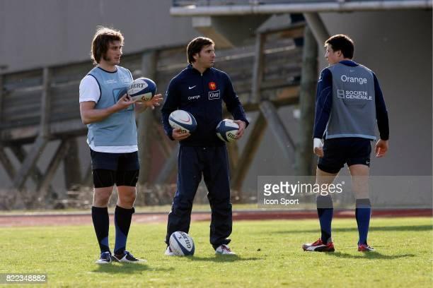 Maxime MEDARD / Francois TRINH DUC / Gonzalo QUESADA Entrainement de l'Equipe de France Marcoussis