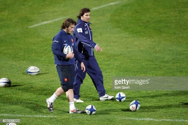 Maxime MEDARD / Gonzalo QUESADA Entrainement equipe de France de Rugby CNR Marcoussis