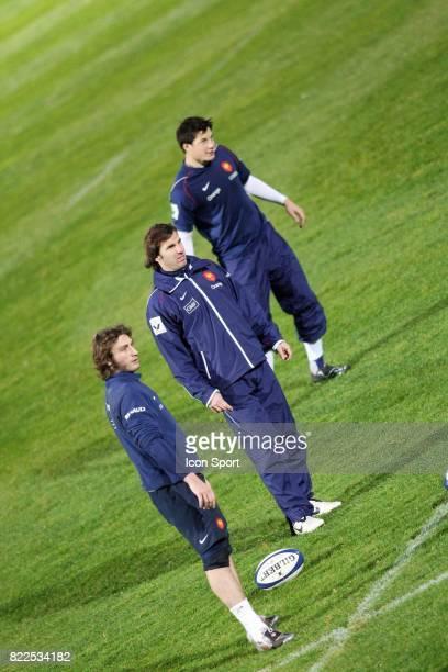 Maxime MEDARD / Gonzalo QUESADA / Francois TRINH DUC Entrainement equipe de France de Rugby CNR Marcoussis