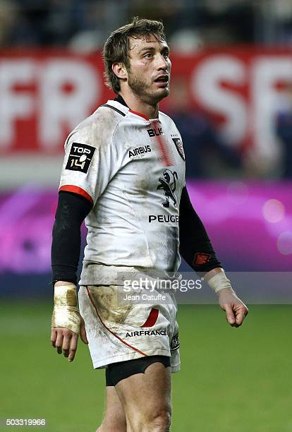 Maxime Medard of Stade Toulousain in action during the Top 14 rugby match between Stade Francais Paris and Stade Toulousain at Stade Jean Bouin on...