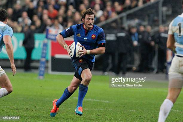 Maxime Medard of the French National team runs with the ball during the game between France and Argentina at Stade de France on November 22 2014 in...