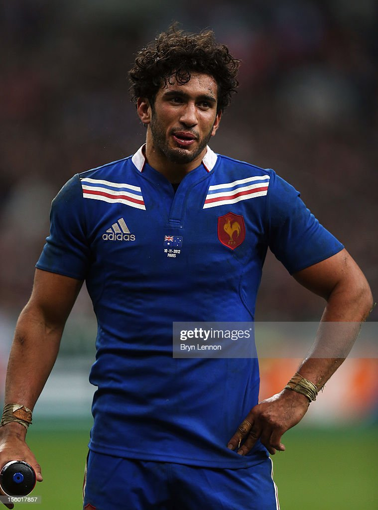 <a gi-track='captionPersonalityLinkClicked' href=/galleries/search?phrase=Maxime+Mermoz&family=editorial&specificpeople=561871 ng-click='$event.stopPropagation()'>Maxime Mermoz</a> of France looks on during the Autumn International match between France and Australia at Stade de France on November 10, 2012 in Paris, France.